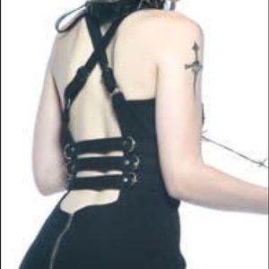 Lip Service | Y2K Goth Fetish Zipper Dress